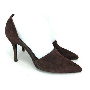 Vince Womens Celeste  Burgundy Pump Heels Size 7.5